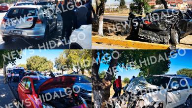 Photo of Accidente en el Nuevo Hidalgo, seis autos involucrados