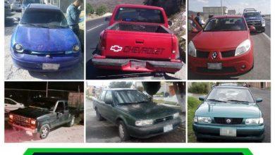 Photo of Se recuperan 6 autos robados en zona Metropolitana de Pachuca