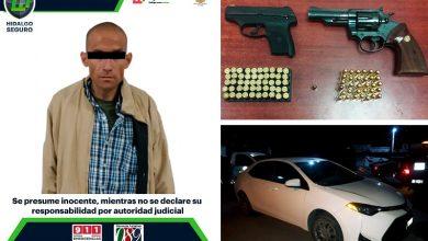 Photo of En operativos de SSPH, cae hombre con orden de aprehensión, armas y mercancía robada