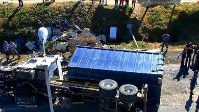 Photo of Vuelca camión de carga en carretera Pachuca-Ciudad Sahagún