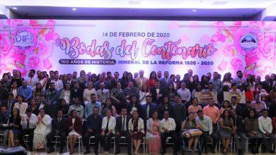Photo of Llevan a cabo Bodas del Centenario en Mineral de la Reforma