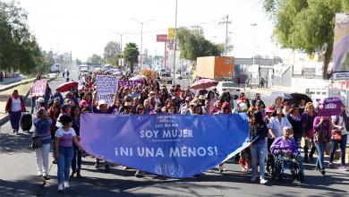 Photo of Más de 600 mujeres marchan en Tizayuca para poner un alto a la violencia de género