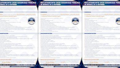 Photo of Vigente convocatoria de reclutamiento para policías en Mineral de la Reforma