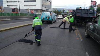 Photo of Sopot realiza trabajos de  bacheo en el bulevar Felipe Ángeles