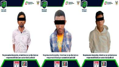 Photo of Detiene Policía de Hidalgo a 3 hombres por presuntos robos en Pachuca