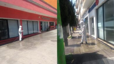 Photo of Desinfectan bancos en Pachuca