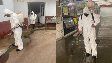 Photo of Bomberos de Tulancingo realiza labores de sanitización en áreas y espacios públicos