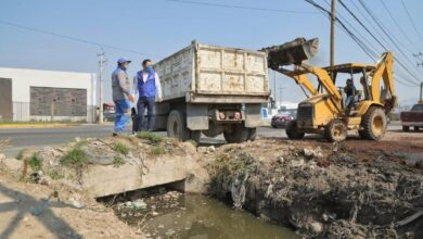 Photo of Supervisa Alcalde de Mineral de la Reforma limpieza de drenes pluviales