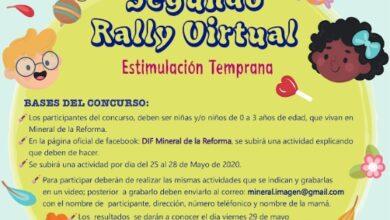 Photo of Lanza DIF de Mineral de la Reforma 2do rally virtual de estimulación  temprana