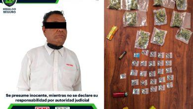 Photo of Detiene Policía de Hidalgo a hombre por narcomenudeo en Tepeji del Río