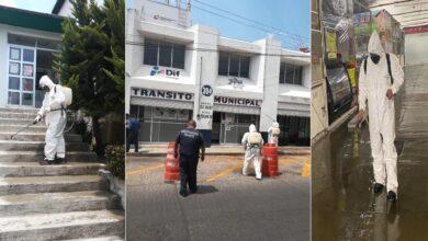 Photo of 30 kilómetros de áreas y espacios públicos han sido sanitizados en Tulancingo