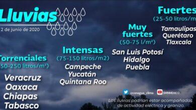 Photo of La depresión tropical 3 originará lluvias muy fuertes en zonas de Hidalgo