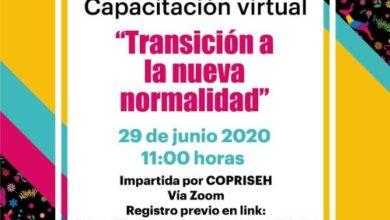 Photo of Inhide invita a participar en la capacitación virtual «Transición a la nueva normalidad»