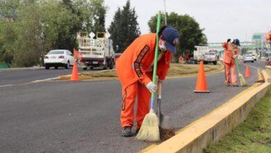 Photo of Sopot realiza trabajos de limpieza en boulevard Felipe Ángeles en Pachuca