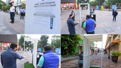 Photo of Instalan arcos sanitizantes en el centro de Tula