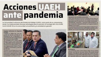 Photo of Presenta UAEH acciones frente a Covid-19 en Gaceta Nacional Universitaria
