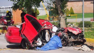 Photo of Muere hombre al chocar auto en bulevar Bonfil en Pachuca