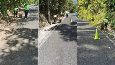 Photo of Sopot realiza trabajos de limpieza en la carretera estatal ramal Pisaflores