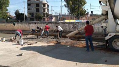 Photo of Avanza la construcción de pavimento en calle Jacques Offenbach en Tulancingo