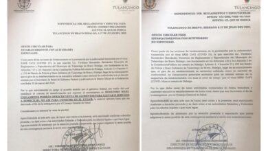 Photo of Establecimientos no esenciales en Tulancingo son notificados de cierre por Covid-19