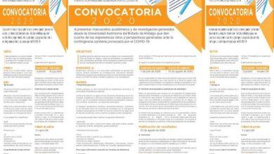 Photo of Emite UAEH convocatoria sobre experiencias, retos y perspectivas ante Covid-19