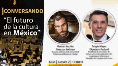 Photo of Realizará OSUAEH plática con Sergio Mayer sobre el futuro de la cultura en México