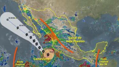 Photo of Genevieve, ahora como huracán categoría 4 en la escala Saffir-Simpson