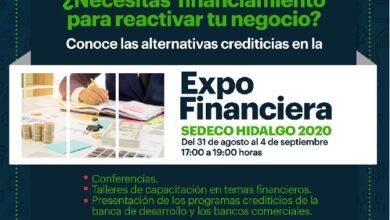Photo of GEH invita a participar en la «Expo Financiera Sedeco-Hidalgo 2020»