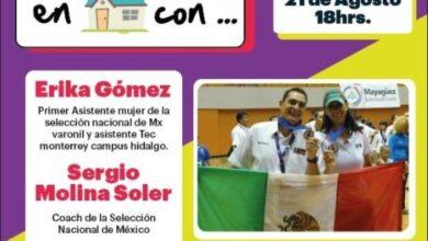 Photo of Conversarán Erika Gómez «La Cucha» y el Coach Sergio Molina en «Platicando en casa con»