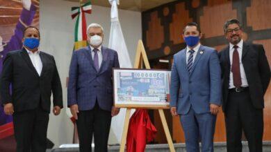 Photo of Lotería Nacional devela billete conmemorativo de Mineral de la Reforma