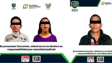 Photo of Detiene Policía de Hidalgo a 3 individuos con presuntas drogas y recupera taxi robado