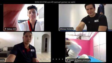 Photo of El Taekwondo hidalguense participó en el primer entrenamiento virtual de selecciones