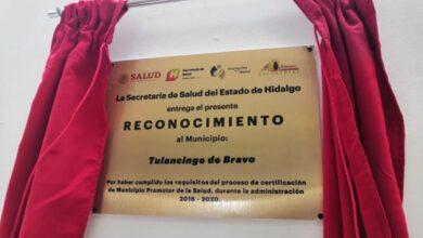 Photo of Tulancingo recibe certificación como «Municipio promotor de la Salud»