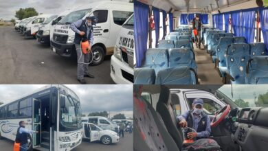 Photo of Desinfectan unidades de diferentes rutas y sitios del municipio de Huichapan