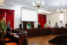 Photo of Encabeza Tanía Meza 1era sesión del Consejo Municipal de Protección Civil