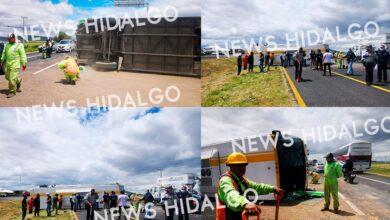 Photo of Vuelca ODT en la México – Pachuca; siete heridos
