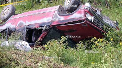 Photo of Muere mujer tras volcar camioneta en carretera de Hidalgo