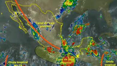 Photo of Un segundo canal de baja presión propiciará lluvias puntuales muy fuertes en Hidalgo