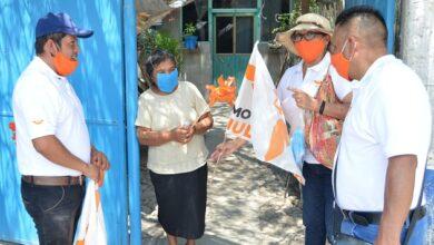 Photo of Realizó toque de puertas en la comunidad de Munitepec de Madero José Alfredo Díaz