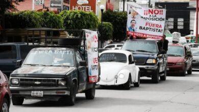Photo of Simpatizantes de Morena se manifiestan en Tula en contra de Ricardo Baptista