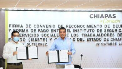 Photo of Firman convenio ISSSTE y gobierno de Chiapas para saldar deuda de mil 800 millones de pesos