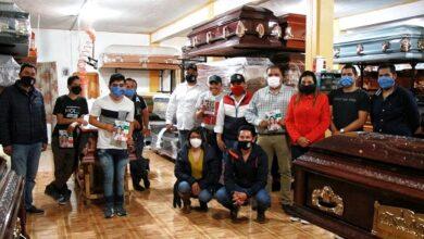 Photo of Refrenda Patricia González compromiso con comerciantes y de Villa de Tezontepec