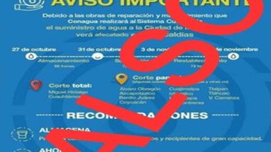 Photo of Desmiente Conagua supuesta suspensión de entrega de agua del Sistema Cutzamala