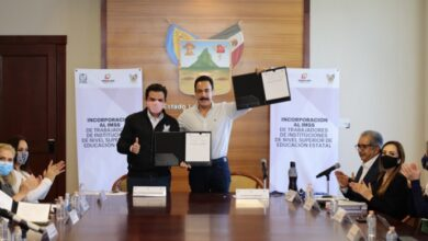 Photo of Firman Fayad y titular del IMSS convenio, el objetivo es brindar seguridad social a trabajadores de educación