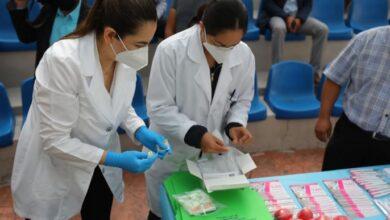Photo of Aplican prueba rápidas de Covid-19 a personal de la presidencia de Mineral de la Reforma