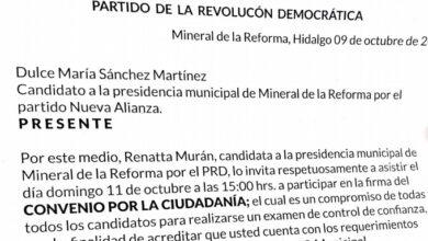 Photo of Rennatta Murán reta a candidatos y candidatas de Mineral de la Reforma a someterse a una prueba de control de confianza