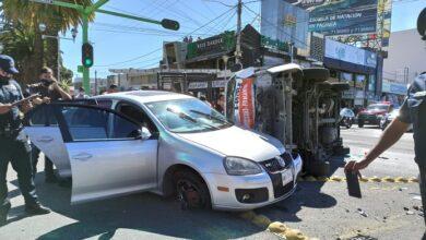 Photo of Choca camioneta del servicio público de pasajeros en Pachuca: 6 heridos