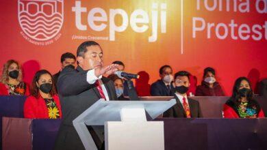 Photo of Salvador Jiménez toma protesta como presidente municipal de Tepeji