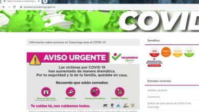 Photo of Ponen en servicio página institucional sobre coronavirus en Tulancingo