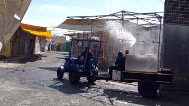 Photo of Desinfectan plaza del vestido en Tulancingo